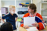 Edmonton Oilers Linwood Elementary School Visit - 9/26/2013