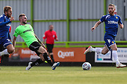 Forest Green Rovers Carl Winchester(7) plays the ball forward during the Pre-Season Friendly match between Forest Green Rovers and Leeds United at the New Lawn, Forest Green, United Kingdom on 17 July 2018. Picture by Shane Healey.