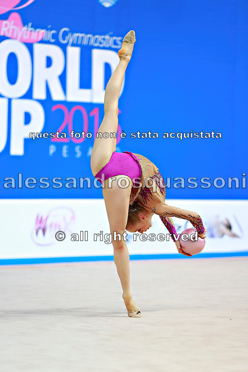 Jovenin Axelle during the qualification at the Pesaro World Cup 2014.<br />