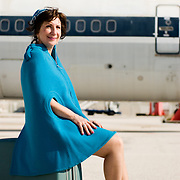 Vaso Papakou writer and former Olympic Airways stewardess for Tahidromos magazine - Greece