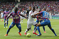 Henri BEDIMO / Dennis APPIAH / Jordan ADEOTTI - 09.05.2015 -  Caen / Lyon  - 36eme journee de Ligue 1<br />Photo : Vincent Michel / Icon Sport