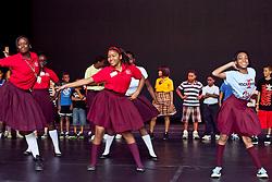 Dancers from Addelita Cancryn Jr. High School show off their moves for the Dance Theatre of Harlem.  © Aisha-Zakiya Boyd