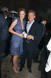 SOREN JESSEN and EUGENIE WARRE at the Tatler Summer Party 2006 in association with Fendi held at Home House, Portman Square, London W1 on 29th June 2006.<br />