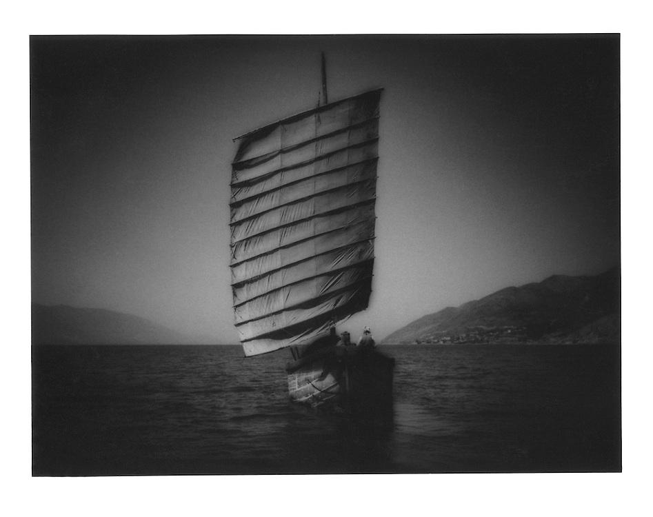 Bai junk on Lake Erhai, Yunnan Province, China.  1997