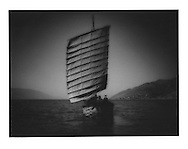 Bai junk on Lake Erhai, Yunnan Province, China.  1997