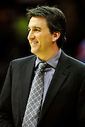 Feb. 11, 2011; Cleveland, OH, USA; Los Angeles Clippers head coach Vinny Del Negro during the first quarter against the Cleveland Cavaliers at Quicken Loans Arena. Mandatory Credit: Jason Miller-US PRESSWIRE