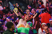 Darts fan dressed as a fried egg during the World Darts Championships 2018 at Alexandra Palace, London, United Kingdom on 20 December 2018.