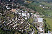 , aerial photograph of Norwich showing the area around   Hall Rd Norwich, Norfolk NR4 6AJ   including Neatmarket Norwich, Norfolk NR4 6EG  White Lodge Business Park and    Frenbury Business Park Hellesdon Park Rd Norwich, Norfolk NR6 5DP