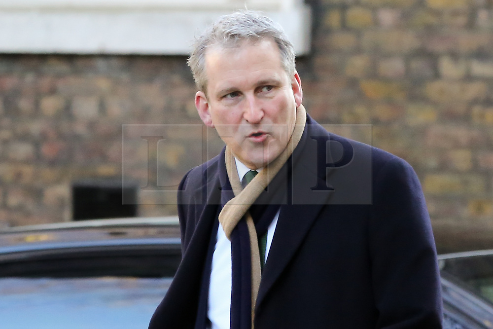© Licensed to London News Pictures. 19/02/2019. London, UK. Damian Hinds - Secretary of State for Education arrives in Downing Street for the weekly Cabinet meeting. Photo credit: Dinendra Haria/LNP