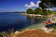 Canoeing at Fanari Beach, Argostoli, Cephalonia, Ionian Islands, Greece