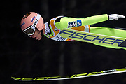 Poland, Wisla Malinka - 2017 November 18: Stefan Kraft from Germany soars in the air during FIS Ski Jumping World Cup Wisla 2017/2018 - Day 1 at jumping hill of Adam Malysz on November 18, 2017 in Wisla Malinka, Poland.<br /> <br /> Mandatory credit:<br /> Photo by &copy; Adam Nurkiewicz<br /> <br /> Adam Nurkiewicz declares that he has no rights to the image of people at the photographs of his authorship.<br /> <br /> Picture also available in RAW (NEF) or TIFF format on special request.<br /> <br /> Any editorial, commercial or promotional use requires written permission from the author of image.