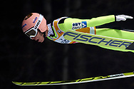 Poland, Wisla Malinka - 2017 November 18: Stefan Kraft from Germany soars in the air during FIS Ski Jumping World Cup Wisla 2017/2018 - Day 1 at jumping hill of Adam Malysz on November 18, 2017 in Wisla Malinka, Poland.<br /> <br /> Mandatory credit:<br /> Photo by © Adam Nurkiewicz<br /> <br /> Adam Nurkiewicz declares that he has no rights to the image of people at the photographs of his authorship.<br /> <br /> Picture also available in RAW (NEF) or TIFF format on special request.<br /> <br /> Any editorial, commercial or promotional use requires written permission from the author of image.