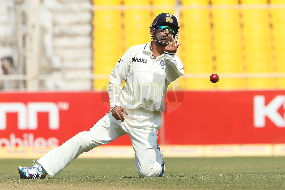 Gautam Gumbhir of India during day 3 of the first test match between India and New Zealand  held at the Sardar Patel Gujarat Stadium in Ahmedabad on the 6th November 2010..Photo by Ron Gaunt/BCCI/SPORTZPICS