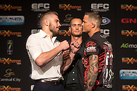 JOHANNESBURG, SOUTH AFRICA - MAY 13: Dricus du Plessis and Martin van Staden during EFC 49 Fight Night at the Big Top Arena, Carnival City, Johannesburg, South Africa on May 13, 2016. (Photo by Anton Geyser/ EFC Worldwide)