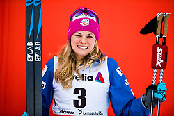January 1, 2018 - Lenzerheide, Switzerland - Jessica Diggins of the United States celebrates after women's 10km pursuit free technique during Tour de Ski. (Credit Image: © Jon Olav Nesvold/Bildbyran via ZUMA Wire)