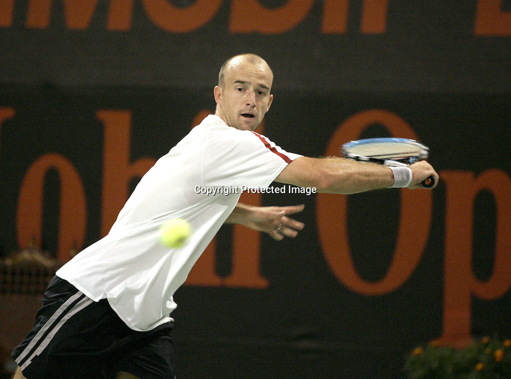 Qatar, Doha, ATP Tennis Turnier Qatar Open 2005, Ivan Ljubicic (CRO), 08.01.2005,<br />Foto: Juergen Hasenkopf