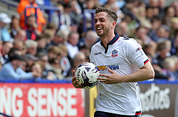 Andrew Taylor of Bolton Wanderers smiles during a break in play - Mandatory by-line: Joe Dent/JMP - 30/04/2017 - FOOTBALL - Macron Stadium - Bolton, England - Bolton Wanderers v Peterborough United - Sky Bet League One