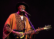LONDON, UK - JUNE 29: Ali Farka Toure performs on stage at the Barbican on June 29th, 2005 in London, United Kingdom. (Photo by Philip Ryalls/Redferns)**Ali Farka Toure