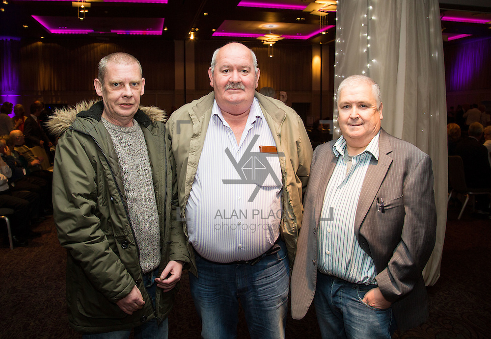 11.10.2016         <br /> Pictured at the Grand Final of the Limerick Going for Gold 2016 Awards were, Rodney Lee Hayes, Tony O'Neill and Jimmy Coleman, Cappamore Estates. Picture: Alan Place