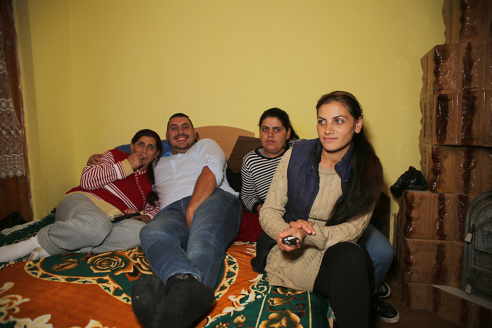 From left to right, Razvan's mum, Razvan, Adela and Ribenna (Razvan's sisters).