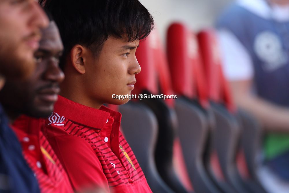 Takefusa Kubo on the bench for his first home match for Mallorca