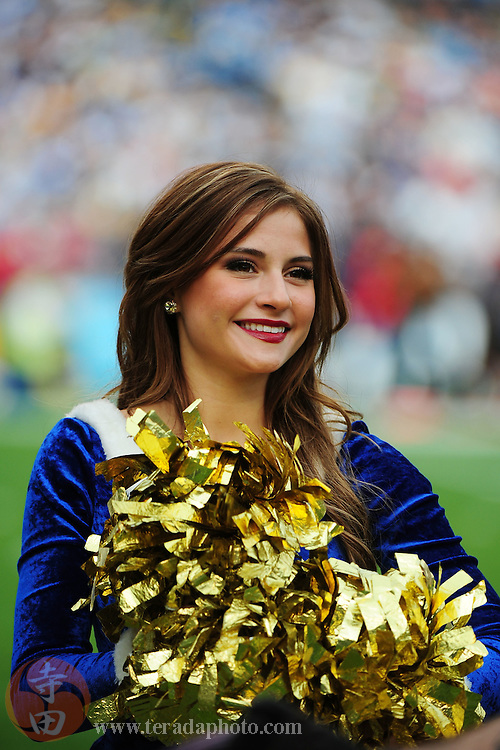 December 20, 2009; San Diego, CA, USA; San Diego Charger Girls cheerleader Brittany R. performs during the first quarter against the Cincinnati Bengals at Qualcomm Stadium. The Chargers defeated the Bengals 27-24. Mandatory Credit: Kyle Terada-Terada Photo