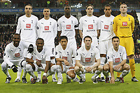 Fotball<br /> Foto: imago/Digitalsport<br /> NORWAY ONLY<br /> <br /> 12.03.2008<br /> <br /> Lagbilde Tottenham<br /> <br /> Mannschaftsfoto Tottenham Hotspurs, hi. v. li.: Dimitar Berbatov, Jermaine Jenas, Ledley King, Jonathan Woodgate, Tom Huddlestone, Paul Robinson, vorn: Pascal Chimbonda, Didier Zokora, Young Pyo Lee, Robbie Keane, Steed Malbranque