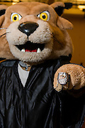 Rufus trys on a Stanley Cup ring brought by University class ring manufactuers to the Grad Fair.