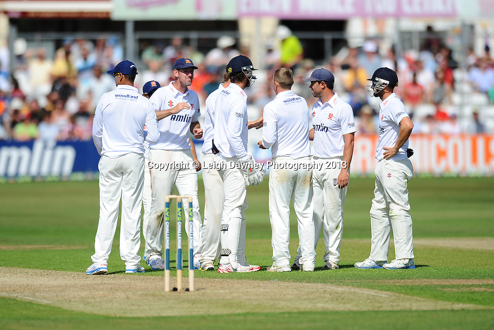 Essex celebrate after Matt Prior of England  gets caught out by Tom Craddock of Essex during England v Essex first day of a four day Ashes warm up game at the Essex County Cricket Ground, 30.06.13.  Credit: © Leigh Dawney Photography. Self Billing where applicable. Tel: 07812 790920