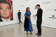 FLORENCE WELCH; RICHARD PHILLIPS, Richard Phillips, Most Wanted. Private view at White Cube. Hoxton Sq. London. 27 January 2011, -DO NOT ARCHIVE-© Copyright Photograph by Dafydd Jones. 248 Clapham Rd. London SW9 0PZ. Tel 0207 820 0771. www.dafjones.com.