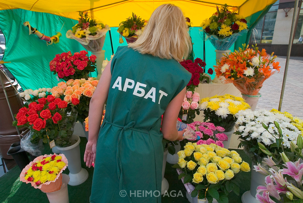 Arbat pedestrian zone. Flower shop...A river cruise from Moscow to St. Petersburg aboard MS Kazan, the most luxurious vessel (four star plus) operating in Russia. It is run by Austrian River Cruises under strictly Western standards, chartered - amongst others - by Club 50, a senior's travel agency based in Vienna.