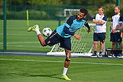 Dele Alli shows a trick during Tottenham Training Session at Tottenham Training Centre, Enfield, United Kingdom on 13 September 2016. Photo by Jon Bromley.