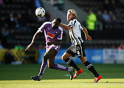 Hiram Boateng of Plymouth Argyle (L) and Alan Smith of Notts County in action - Mandatory byline: Jack Phillips / JMP - 07966386802 - 11/10/2015 - FOOTBALL - Meadow Lane - Nottingham, Nottinghamshire - Notts County v Plymouth Argyle - Sky Bet Championship