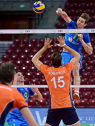 Danijel Koncilja during volleyball match between National teams of Netherlands and Slovenia in Playoff of 2015 CEV Volleyball European Championship - Men, on October 13, 2015 in Arena Armeec, Sofia, Bulgaria. Photo by Ronald Hoogendoorn / Sportida