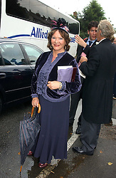 LADY ASHCOMBE at the wedding of Tom Parker Bowles to Sara Buys at St.Nicholas Church, Rotherfield Greys, Oxfordshire on 10th September 2005.<br /><br />NON EXCLUSIVE - WORLD RIGHTS