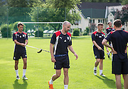 Dundee&rsquo;s Danny Williams and James Vincent  -  Dundee FC pre-season training camp in Obertraun, Austria<br /> <br />  - &copy; David Young - www.davidyoungphoto.co.uk - email: davidyoungphoto@gmail.com