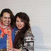NLD/Amsterdam/20150128 - Modeshow Danie Bles 2015, Sanne Vogel en vriendin
