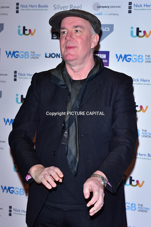 Jack Docherty attends The Writers' Guild Awards at Royal College of Physicians on 15th January 2018.