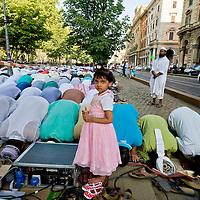 La preghiera per la fine del Ramdan 2015