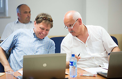 Blaz Lesnik and Janez Vodicar during meeting of Executive Committee of Ski Association of Slovenia (SZS) on June 9, 2014 in SZS, Ljubljana, Slovenia. Photo by Vid Ponikvar / Sportida