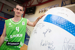 Jan Span during Open day of Slovenian U20 National basketball team before the European Chmpionship in Slovenia, on July 9, 2012 in Domzale, Slovenia.  (Photo by Vid Ponikvar / Sportida.com)