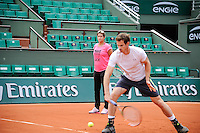 Illustration Bache EDF ENGIE  / Amelie MAURESMO  COACH DE Andy MURRAY - 21.05.2015 - Roland Garros 2015<br />
