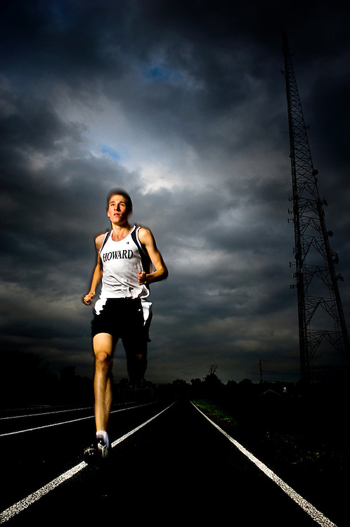 (staff photo by Matt Roth)..Howard High School distance runner Joey Thompson is the 2007 All County male track athlete of the year.