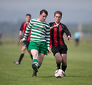 FC Kettledrum (red and black) v Finty Rovers (green and white) in the Dundee Saturday Morning Football League at University Grounds, Riverside, Dundee, Photo by David Young<br /> <br /> <br />  - &copy; David Young - www.davidyoungphoto.co.uk - email: davidyoungphoto@gmail.com