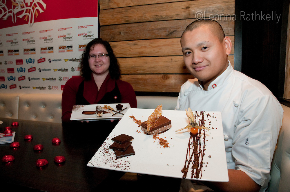 The House of Switzerland hosts a contest for the best chocolate dessert during the 2010 Olympic Winter Games in Whistler, BC Canada.
