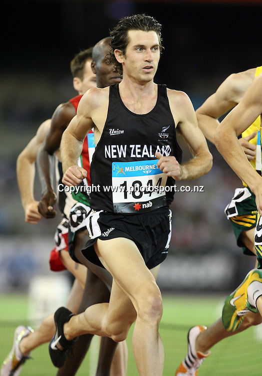 Paul Hamblyn (NZL) competes in the second 1500m heat on Day 9 of the XVIII Commonwealth Games at the MCG, Melbourne, Australia on Friday 24 March, 2006. Photo: Hannah Johnston/PHOTOSPORT