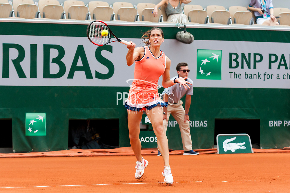 Andrea Petkovic (ger) during the Roland Garros French Tennis Open 2018, day 2, on May 28, 2018, at the Roland Garros Stadium in Paris, France - Photo Pierre Charlier / ProSportsImages / DPPI