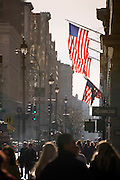 New York City 5th Avenue around 42nd street looking towards downtown