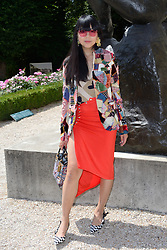 Susie Lau attending the Christian Dior Haute Couture Paris Fashion Week Fall/Winter 2018/19 held at Musee Rodin in Paris, France on july 02, 2018. Photo by Aurore Marechal/ABACAPRESS.COM