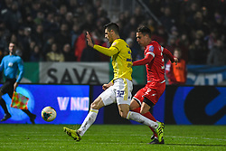 Nemanja Mitrovic of Maribor and Ante Zivkovic of Aluminij during football match between NK Aluminij and NK Maribor in 18th Round of Prva liga Telekom Slovenije 2019/20, on November 24, 2019 in Sportni park Aluminij, Kidricevo Slovenia. Photo by Milos Vujinovic / Sportida